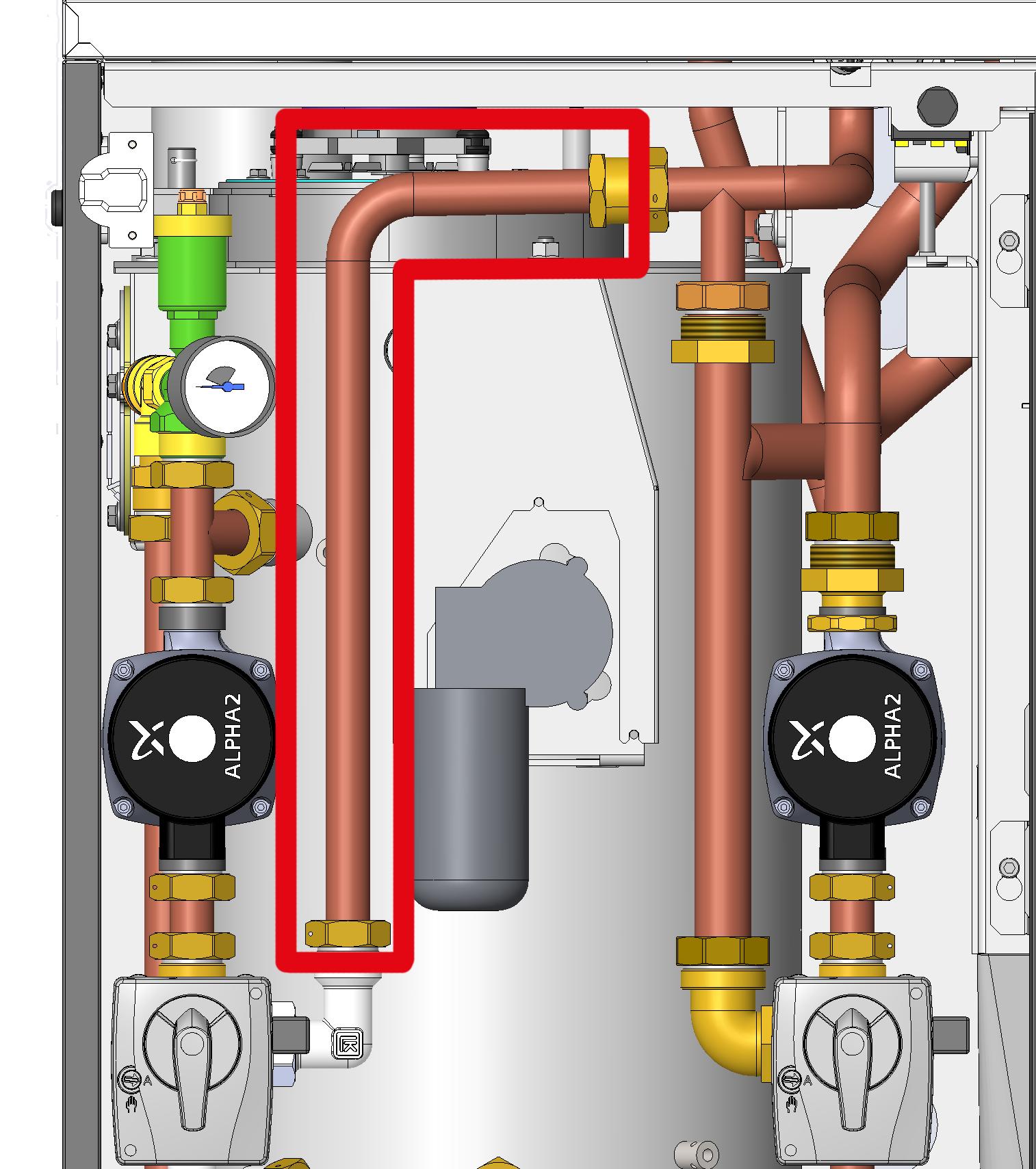 Hydraulik Bypassrohr für Rennergy Pellet Mini RPM6-15