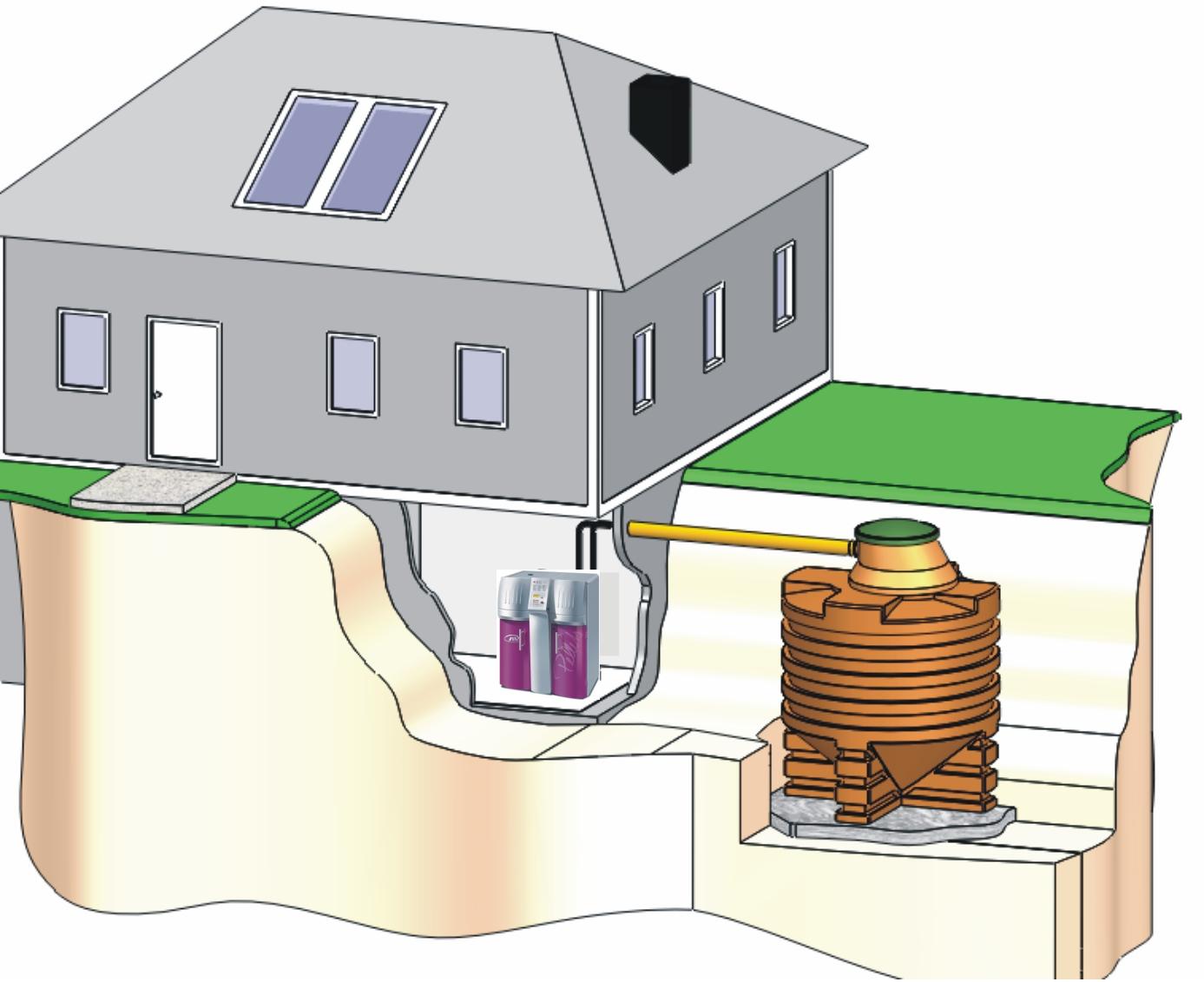 Geotank einbau