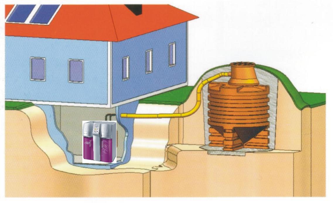 Geotank Erdreich erhöht