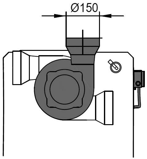 Rauchrohranschlussskizze Rennergy Hackgut RHP20-120